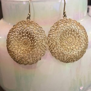 Stella & Dot Round Cage Drop Earring - Gold